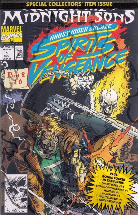 Ghost Rider Blaze Spirits of Vengeance 1,2,3,4,5 NM 9.4 Guide= $16 Our Price= $5
