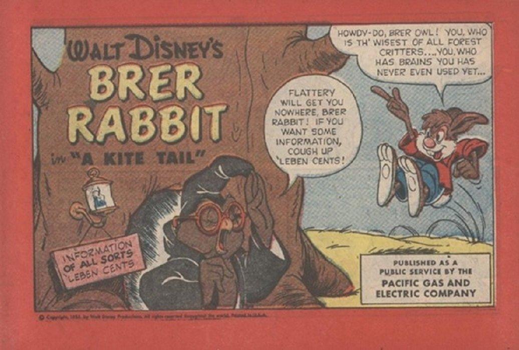 Brer Rabbit Disney Comics Disney Comics 39 s Brer Rabbit a