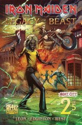 Heavy Metal's Iron Maiden: Legacy Of The Beast - Night City Issue # 2