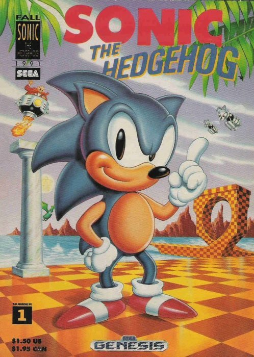 sonic the hedgehog  promotional comic 1  sega