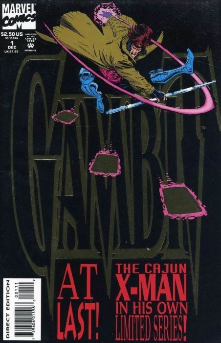 Marvel Comics Gambit Mini-Series #/'s 1 3 2 4 from 1993 All Near Mint !!^