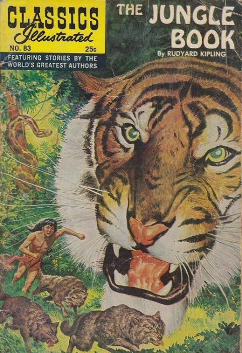 Illustrated Book Cover : Classics illustrated the jungle book gilberton