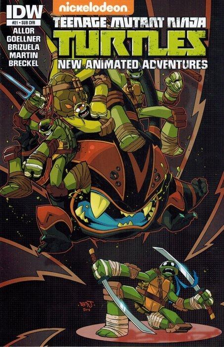 IDW COMICS TMNT NEW ANIMATED ADVENTURES #23 SUB COVER