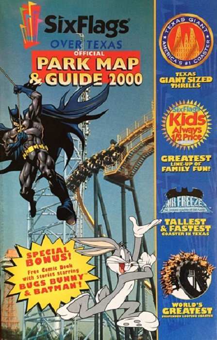 Six Flags: Official Park Map & Guide 2000 1astroworld (DC Comics ...