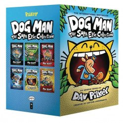 Graphix's Dog Man Supa Epic Collection Hard Cover boxed set
