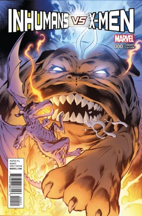 Inhumans Vs X-Men Marvel Graphic Novel Comic Book