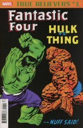 Marvel Comics's True Believers: Fantastic Four - Hulk vs Thing Issue # 1