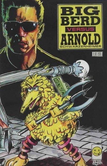Big Berd Vs Arnold Schwarzenheimer 2 Humour Comics 1992
