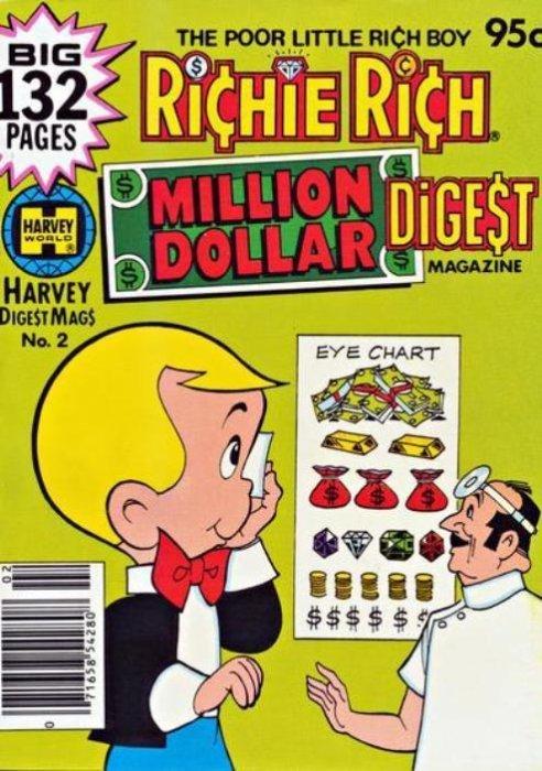 Richie Rich Million Dollar Digest #5 Harvey Comics 1981