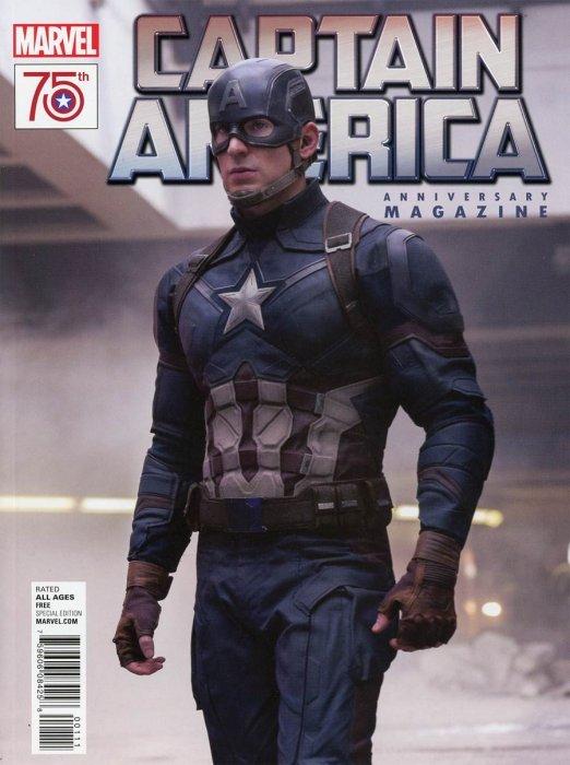 Captain america 75th anniversary magazine 1 marvel for Anniversary magazine