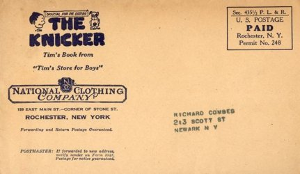 Tim Promotions, Inc.'s The Knicker Special Envelope