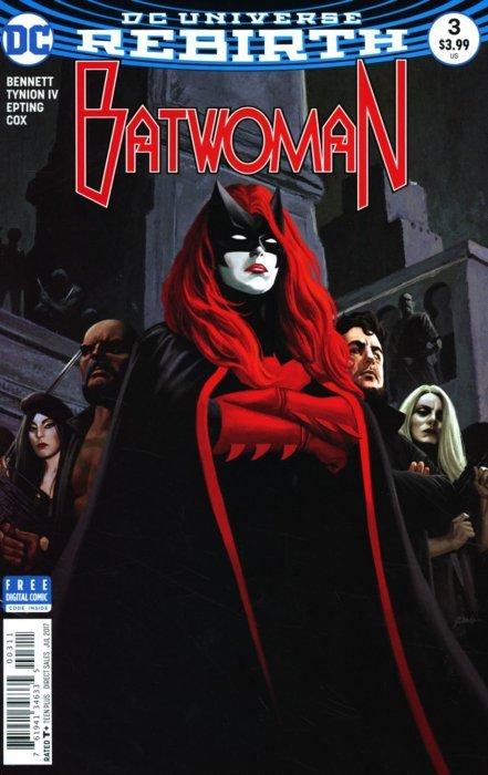 DC Batwoman Steve Epting Regular Cover Vol 2 # 2 1st Print