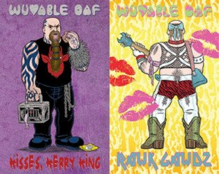 Goteblud Comics's Wuvable Oaf: Kisses, Kerry King / Rawk Gawdz Issue # 1