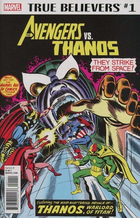 Marvel Comicss True Believers Avengers Vs Thanos Issue 1