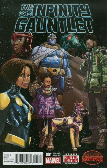 The Infinity Gauntlet Issue 1 2nd Print Marvel Comics