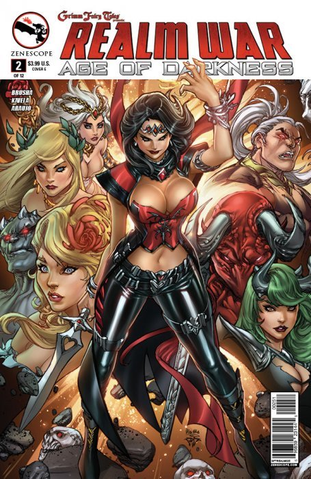 Grimm Fairy Tales Presents Zenescope 4D cover Age Of Darkness #4 Realm War