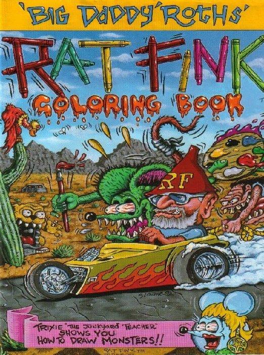 Rat Fink Coloring Book Nn World Of Fandom Magazine
