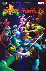 BOOM! Studios's Mighty Morphin Power Rangers / Teenage Mutant Ninja Turtles Issue # 1 - 3rd print