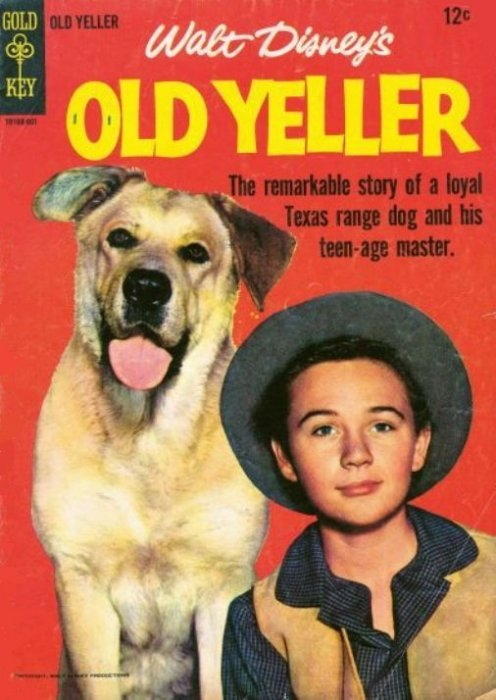 Old Yeller Book Cover : Old yeller gold key comicbookrealm