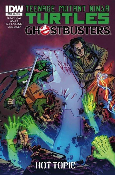 teenage mutant ninja turtles ghostbusters 3hot topic idw