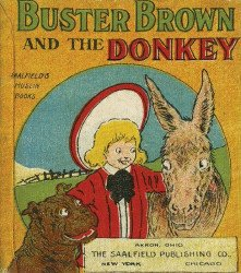 Saalfield's Muslin Books's Buster Brown and the Donkey Hard Cover # 1
