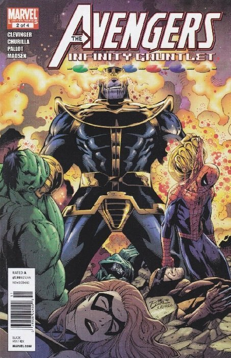 vol. 1 1st PRINT THANOS INFINITY GUANTLET Marvel VF//NM Spider-Man #17