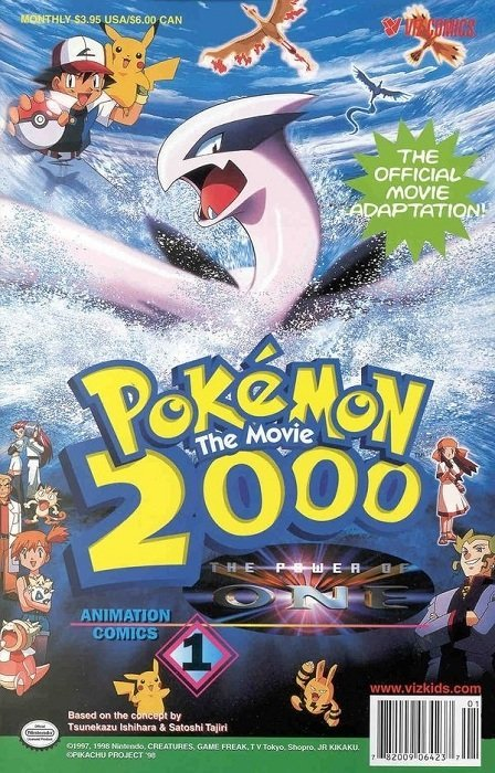 Pokemon The Movie 2000 The Power Of One 1 Viz Media Comicbookrealm Com