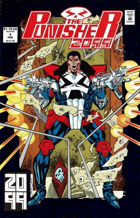 Marvel Comicss Punisher 2099 Issue 1 2nd Print