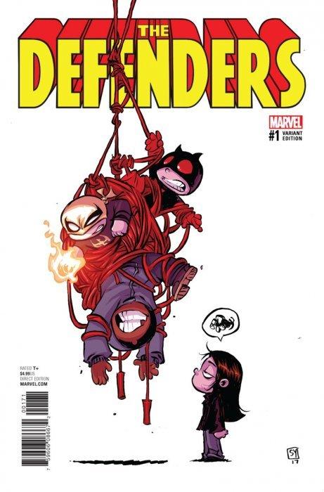 2017 The Defenders #1 Blank Variant NM