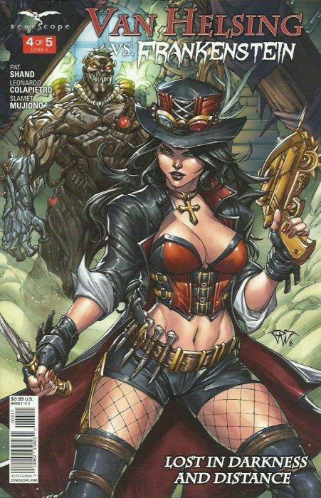~ Zenescope comic Van Helsing Vs Frankenstein #5 5C cover