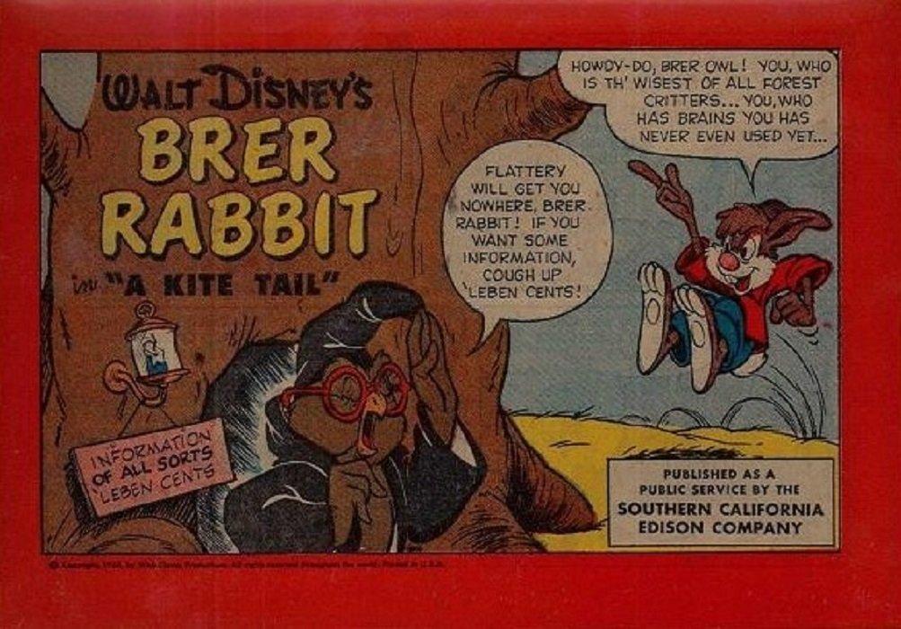 Brer Rabbit Disney Comics Disney Comics 39 s Brer Rabbit a Kite Tail Issue 1b