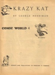 Memory Lane Publications's Captain George's Comic World Issue # 4