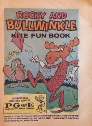Western Printing Co.'s Rocky and Bullwinkle: Kite Fun Book Issue # 1970pg&e