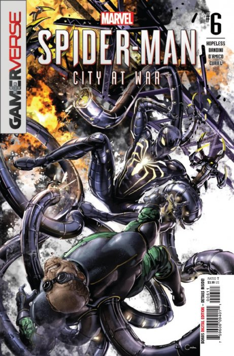 Spider-Man City At War # 5 Clayton Crain Cover A NM Marvel