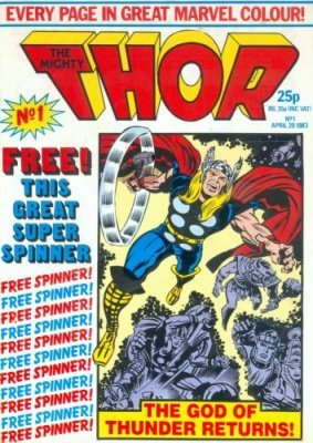 The mighty thor comic book value