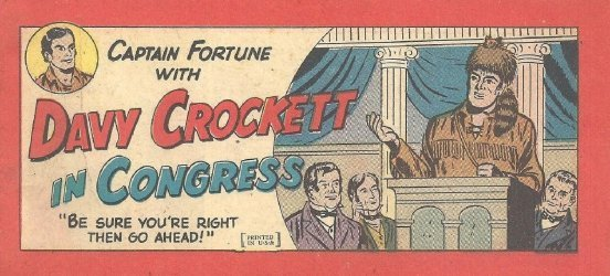 Vital Publications's Captain Fortune with Davy Crockett in Congress Issue nn
