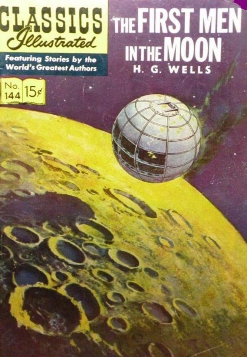 First Illustrated Book Cover : Classics illustrated the first men in moon hrn