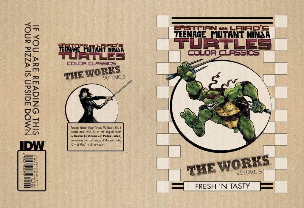 teenage mutant ninja turtles color classics the works hard cover