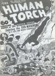 Timely Comics's The Human Torch Issue # 5flashback