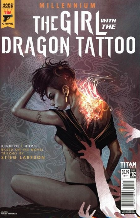 Hard case crime millennium the girl with the dragon for Book series girl with the dragon tattoo