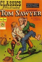 Gilberton Publications's Classics Illustrated #50: Adventures of Tom Sawyer Issue # 1f