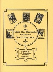 J.G. Huckenpohler's Edgar Rice Burroughs Collector's Pocket Checklist Issue # 3