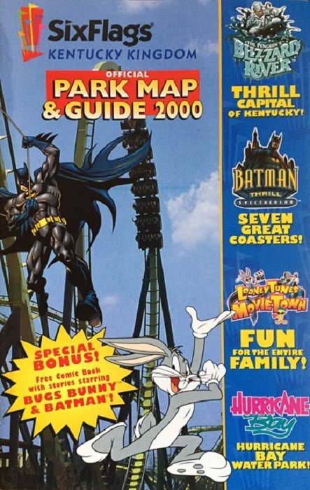 Six Flags: Official Park Map & Guide 2000 Issue # 1marine world (DC on