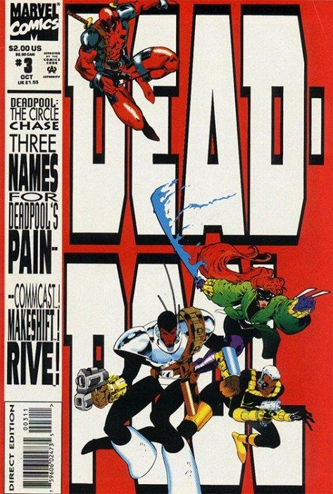 DEADPOOL CIRCLE CHASE #1 2 3 4 Complete Marvel Comic Book Mini Series 1993
