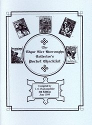 J.G. Huckenpohler's Edgar Rice Burroughs Collector's Pocket Checklist Issue # 4