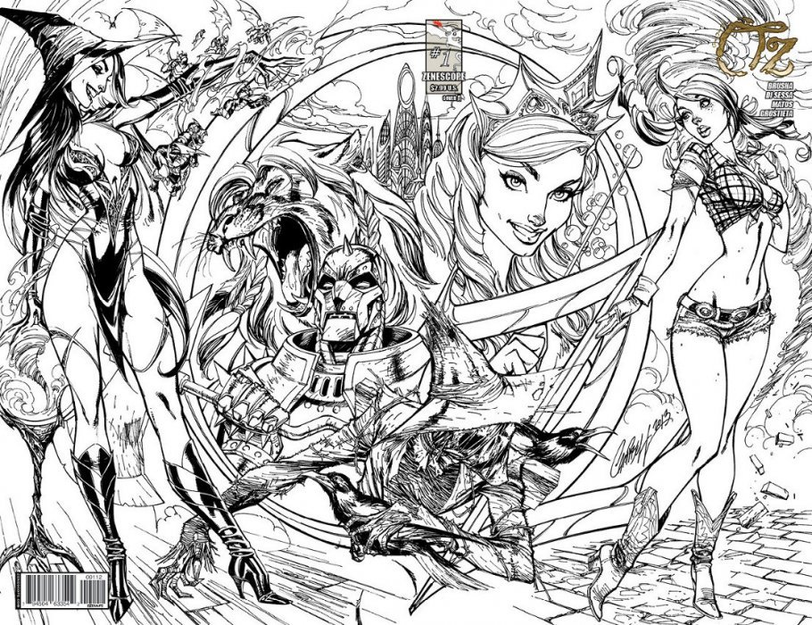 grimm fairy tale coloring pages - photo#10