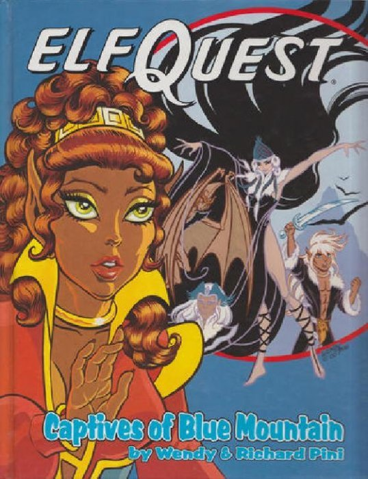 Graphic Novel Book Cover ~ Elfquest graphic novel series hard cover father tree