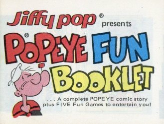 King Features Comics's Jiffy Pop Fun Booklet Issue popeye