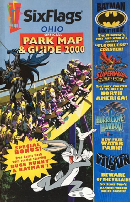Six Flags: Official Park Map & Guide 2000 Issue # 1marine world (DC ...