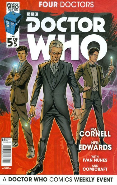 Doctor Who Event 2015 Four Doctors Comic Book #1 Cover A Titan 2015 NEW UNREAD